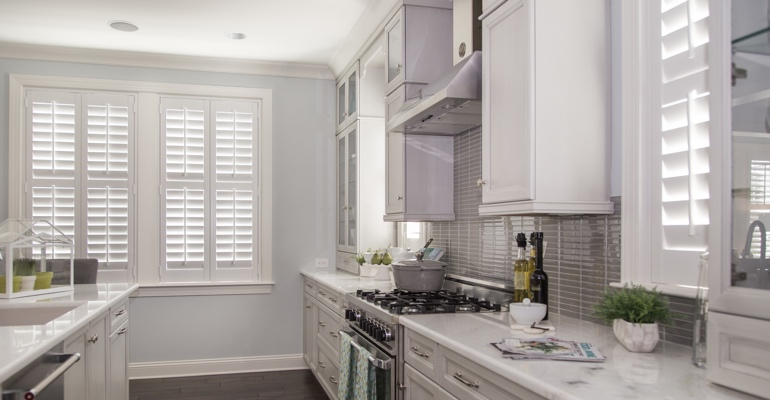 San Diego kitchen white shutters
